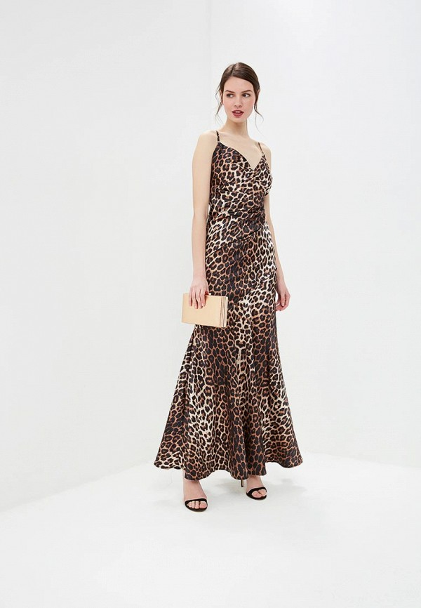 женское вечерние платье goddiva, коричневое