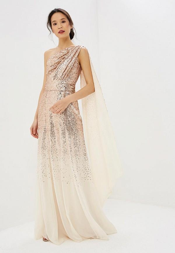 женское вечерние платье goddiva, золотое