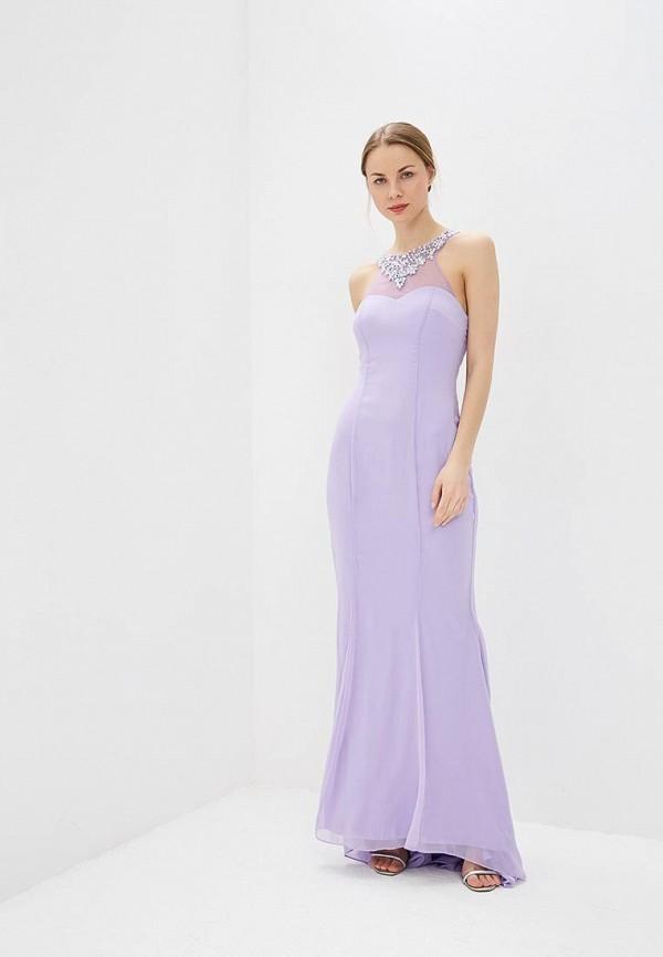 женское вечерние платье goddiva, фиолетовое