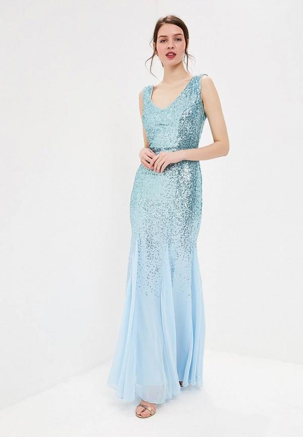 женское вечерние платье goddiva, голубое