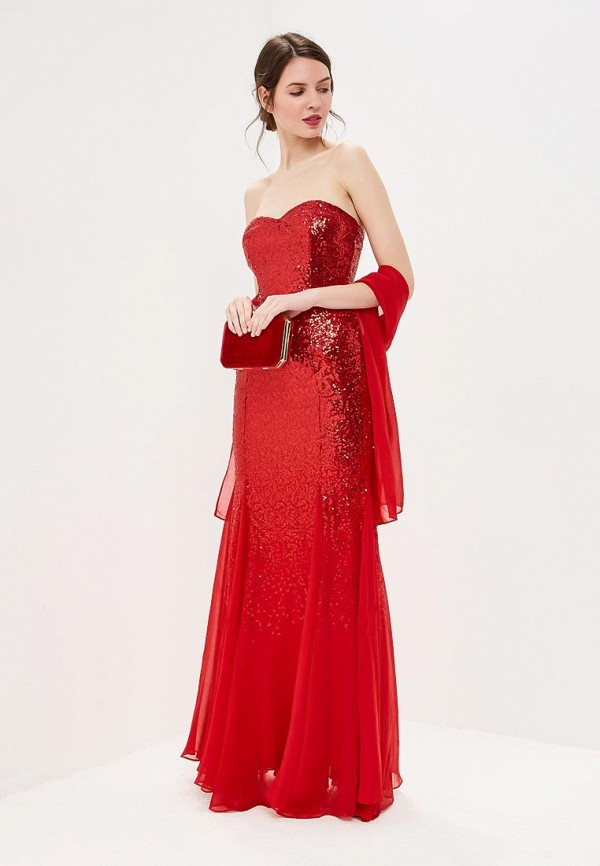 женское вечерние платье goddiva, красное