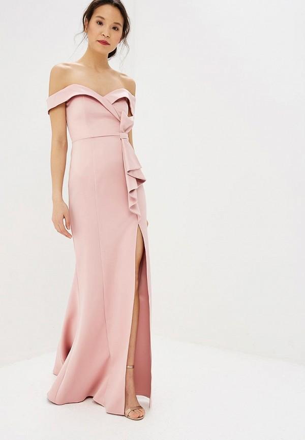 женское вечерние платье goddiva, розовое