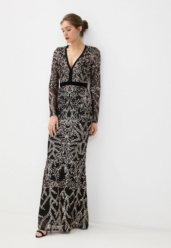 женское вечерние платье goddiva, черное