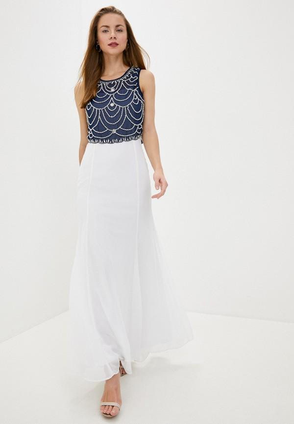 женское вечерние платье goddiva, белое