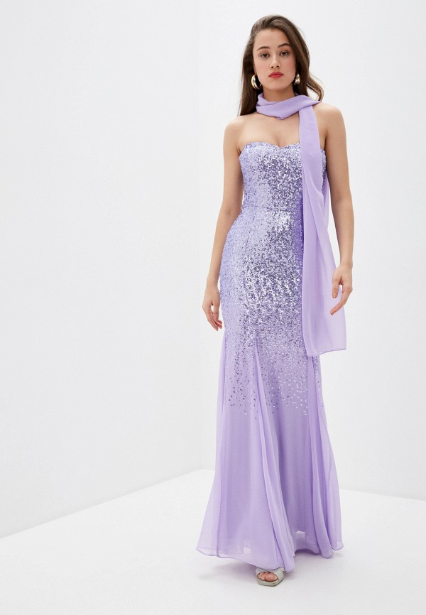 женский шарф мини goddiva, фиолетовый