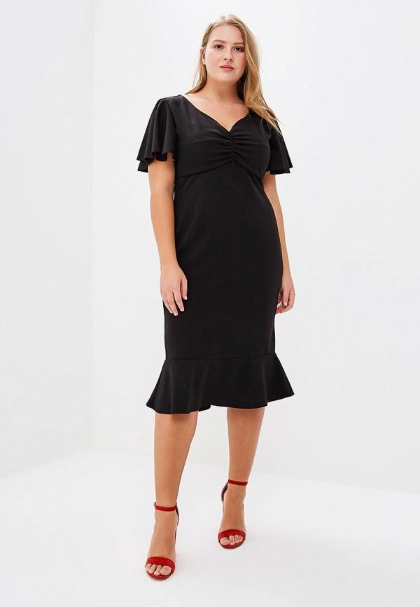 женское повседневные платье goddiva size plus, черное