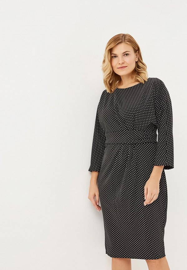 Платье Goddiva Size Plus Goddiva Size Plus GO015EWCSIL3 plus size belted knee length dress with pockets