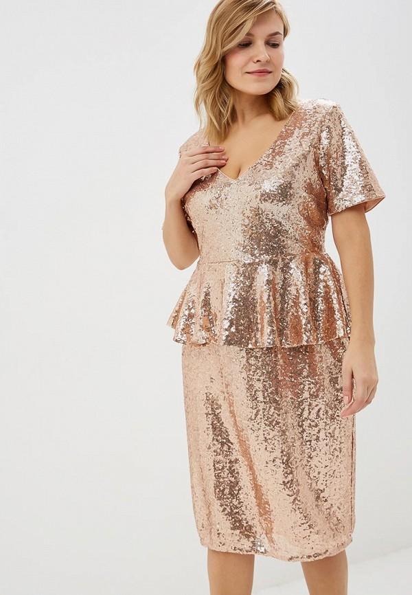 Платье Goddiva Size Plus Goddiva Size Plus GO015EWCSIL6 платье goddiva size plus goddiva size plus go015ewavbh6
