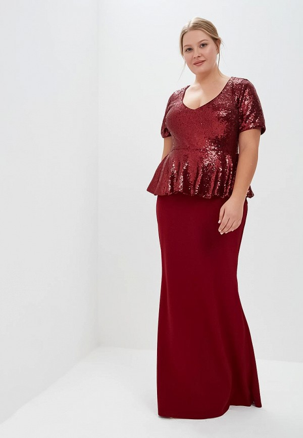 Платье Goddiva Size Plus Goddiva Size Plus GO015EWCSIM1 plus size baroque embroidered tulle dress