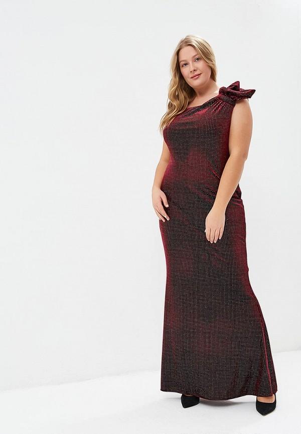 женское вечерние платье goddiva size plus, бордовое