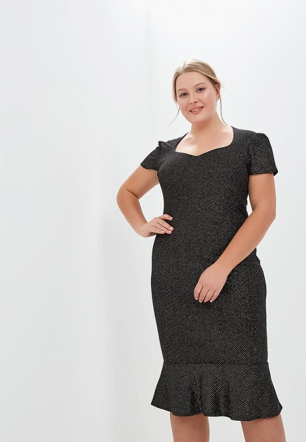 Платье Goddiva Size Plus Goddiva Size Plus GO015EWCSIN8 plus size long sleeve formal party dress with lace