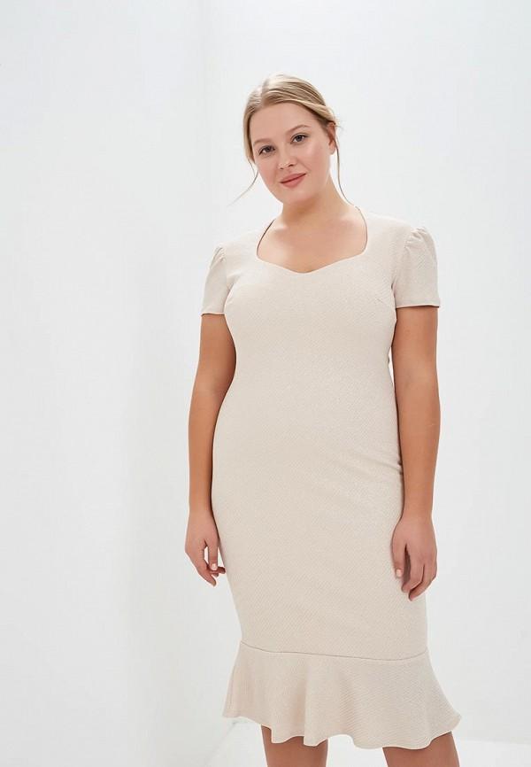 Платье Goddiva Size Plus Goddiva Size Plus GO015EWCSIO0 plus size cut out neck drop shoulder ripped sweater
