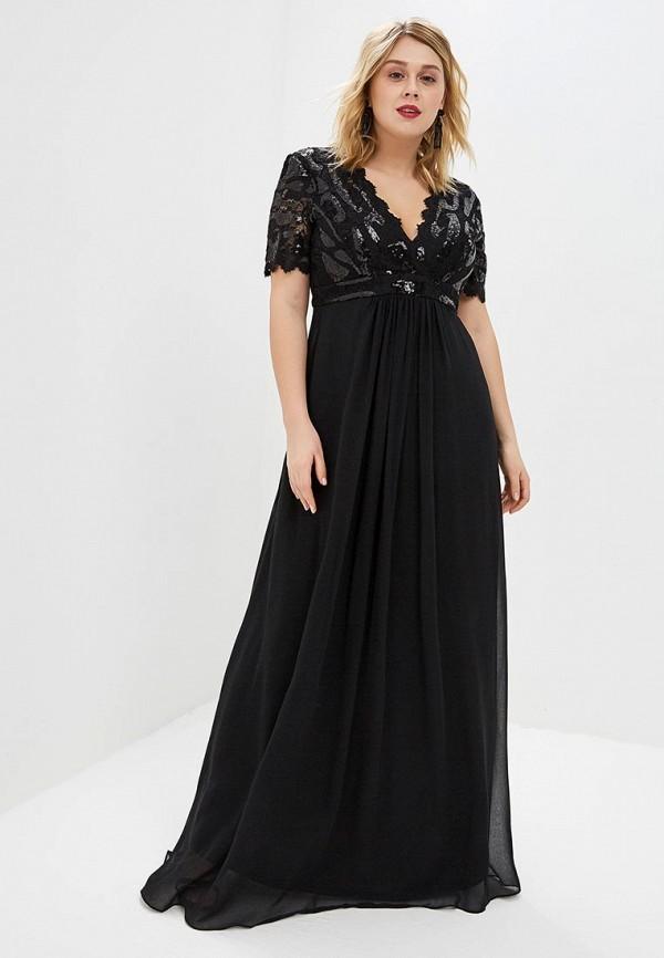 Платье Goddiva Size Plus Goddiva Size Plus GO015EWGVI96 bird print applique plus size tunic top