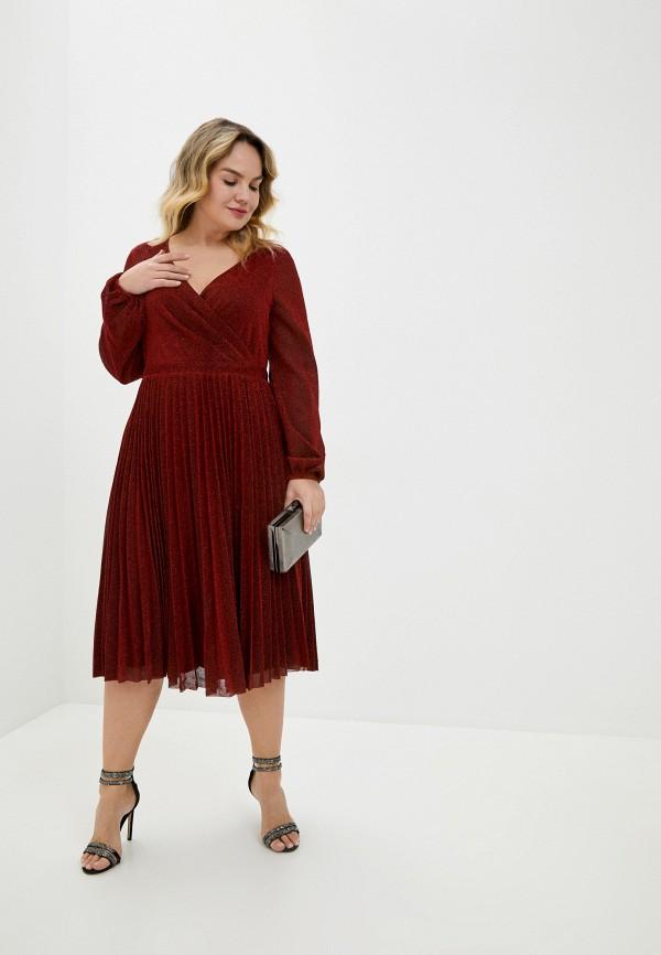 женское повседневные платье goddiva size plus, красное