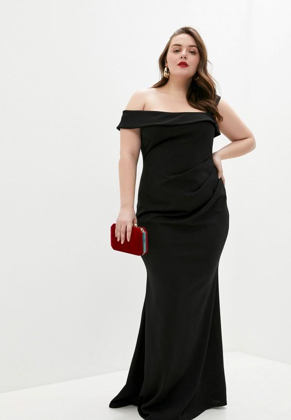 женское платье goddiva size plus, черное