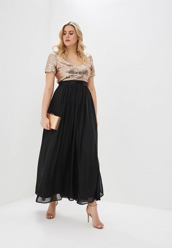Платье Goddiva Size Plus Goddiva Size Plus GO015EWMPL91 plus size bird embroidery striped shirt