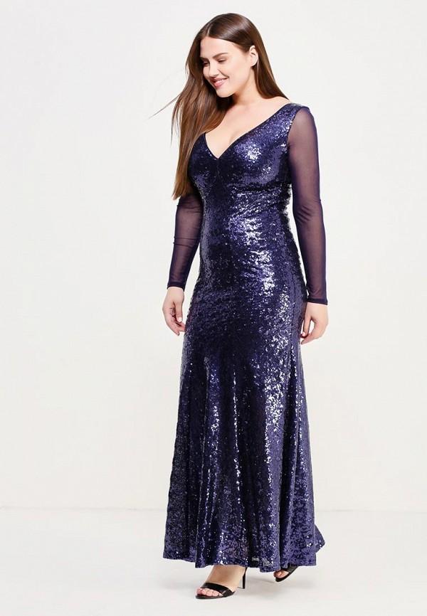 женское платье goddiva size plus, синее