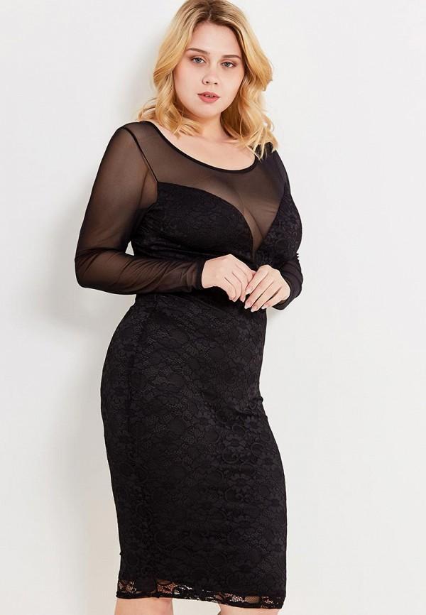 Платье Goddiva Size Plus Goddiva Size Plus GO015EWMPL97 plus size cold shoulder butterfly print top