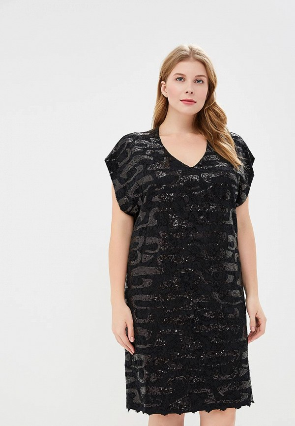 Платье Goddiva Size Plus Goddiva Size Plus GO015EWRAE27 plus size lace insert a line dress