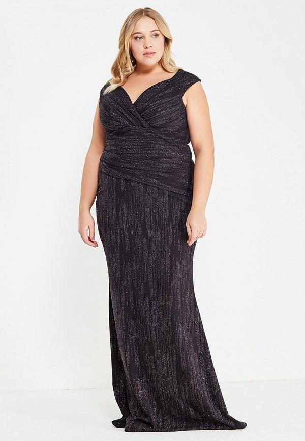 Платье Goddiva Size Plus Goddiva Size Plus GO015EWXQP96 plus size midi lace panel dress