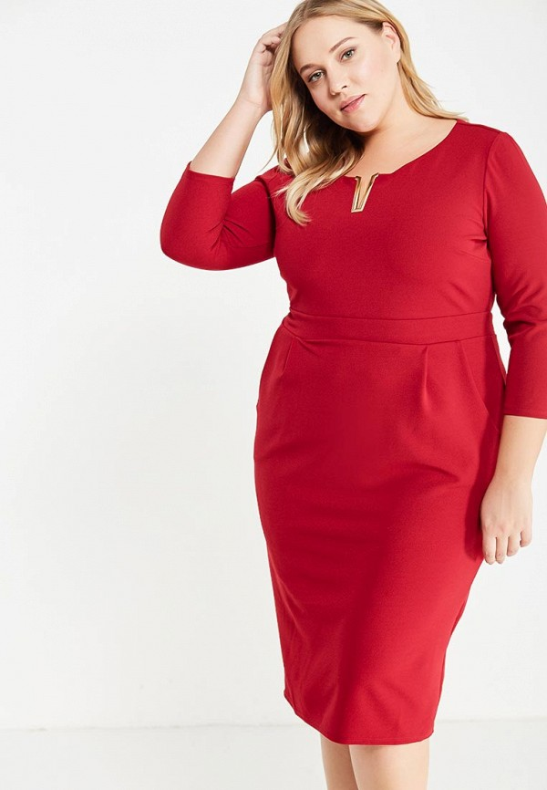 Платье Goddiva Size Plus Goddiva Size Plus GO015EWXRA80 plus size lace insert a line dress