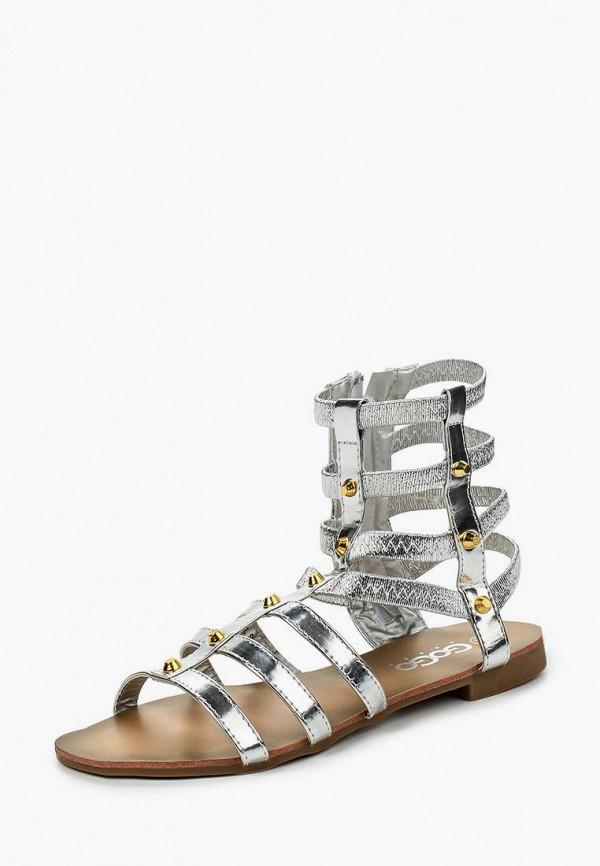 женские сандалии go-go, серебряные