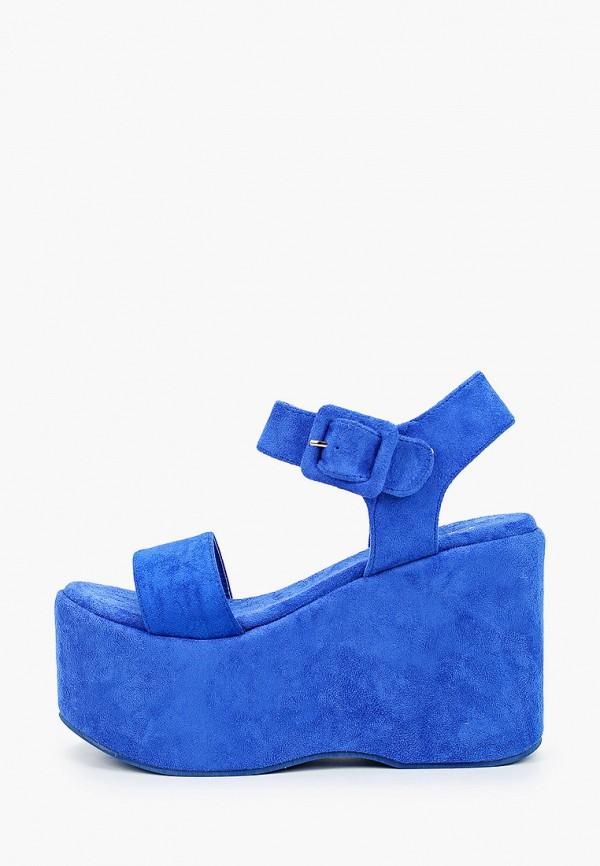 женские босоножки go-go, синие