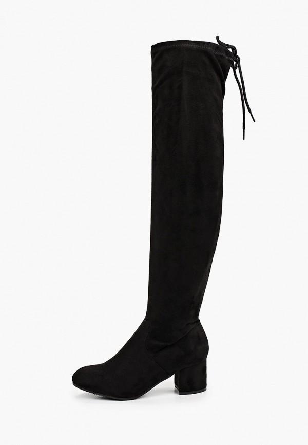 женские ботфорты go-go, черные