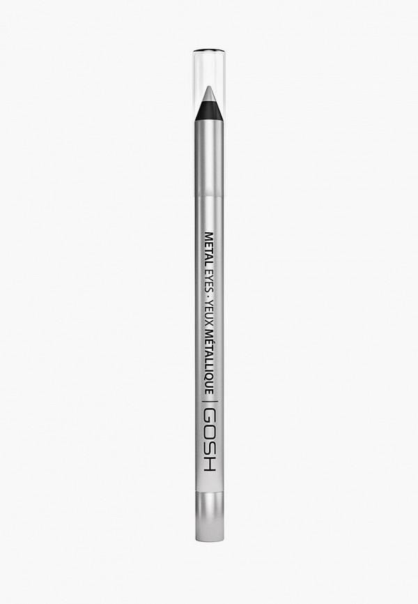 карандаш для глаз gosh, серебряный