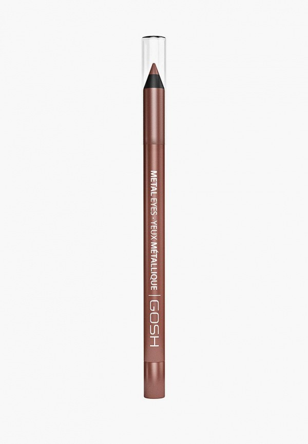 карандаш для глаз gosh, коричневый