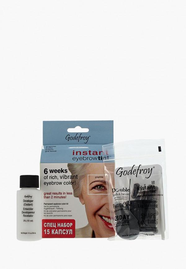 Купить Краска для бровей Godefroy, набор 15 капсул (графит), GO026LWXZK49, белый, Осень-зима 2018/2019