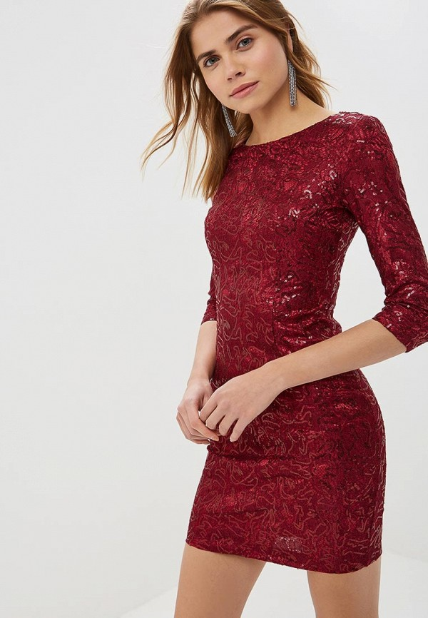 женское вечерние платье goldrai, бордовое
