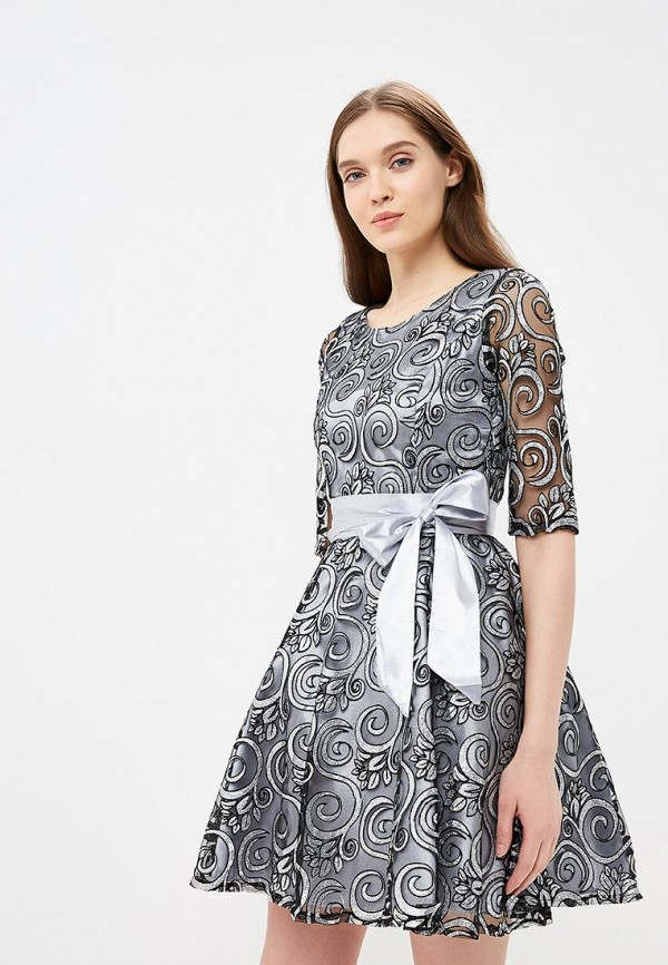 женское вечерние платье goldrai, серое