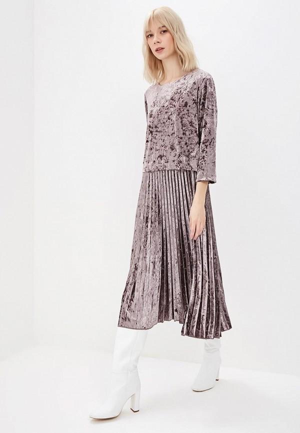 женское повседневные платье goldrai, серое