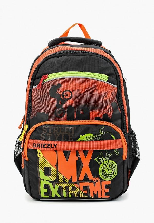 рюкзак grizzly для мальчика, оранжевый