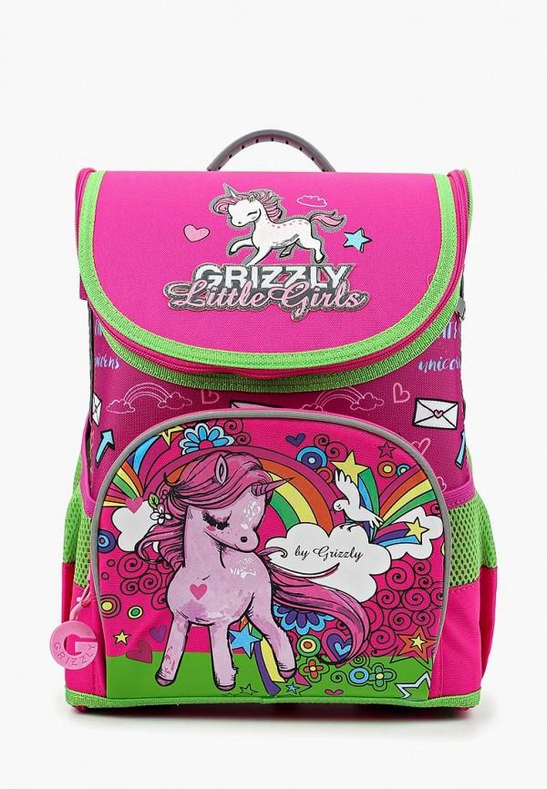 рюкзак grizzly для девочки, розовый