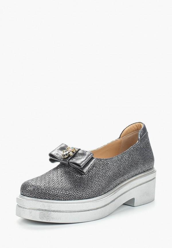 женские туфли grand style, серебряные