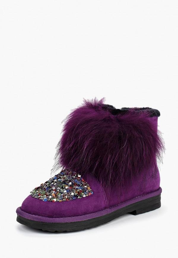 женские полусапожки grand style, фиолетовые