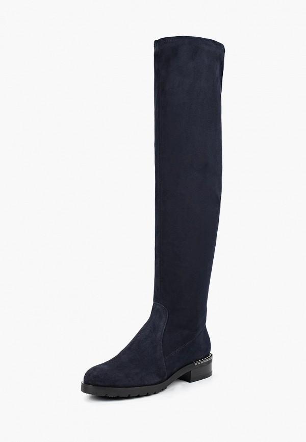женские ботфорты grand style, синие