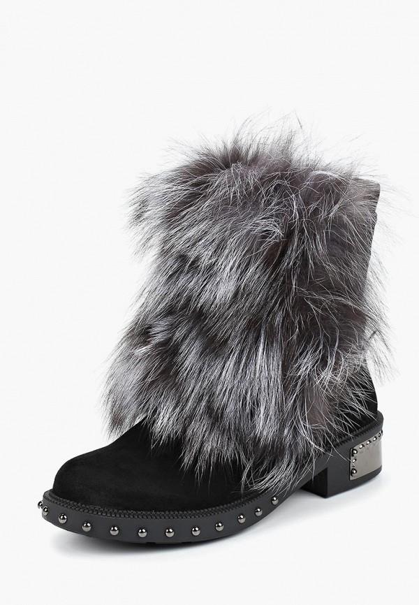 Купить Женские ботинки и полуботинки Grand Style черного цвета