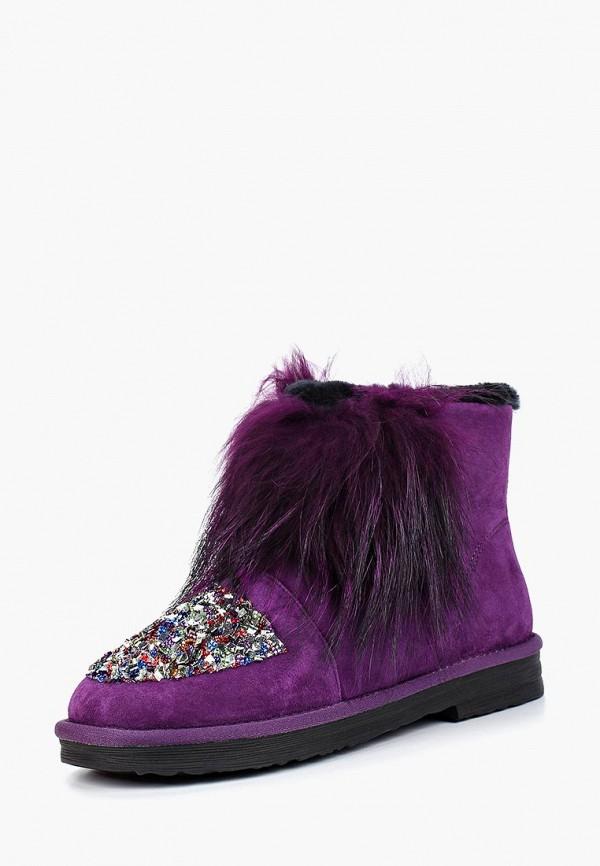 женские угги grand style, фиолетовые