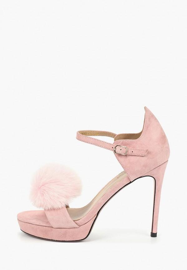 женские босоножки grand style, розовые