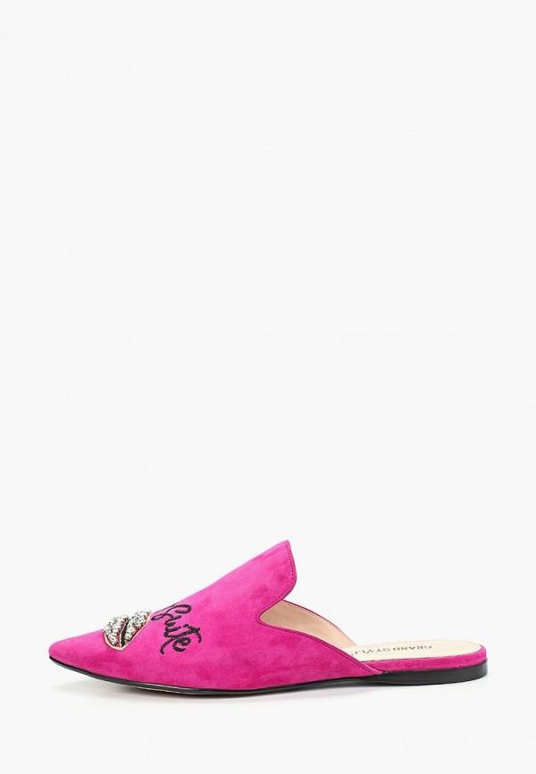 женское сабо grand style, розовое