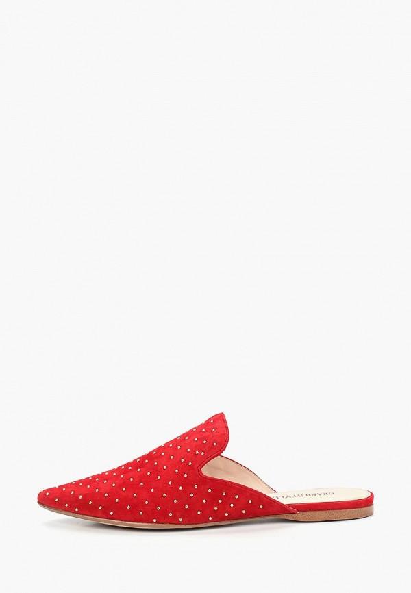 женское сабо grand style, красное