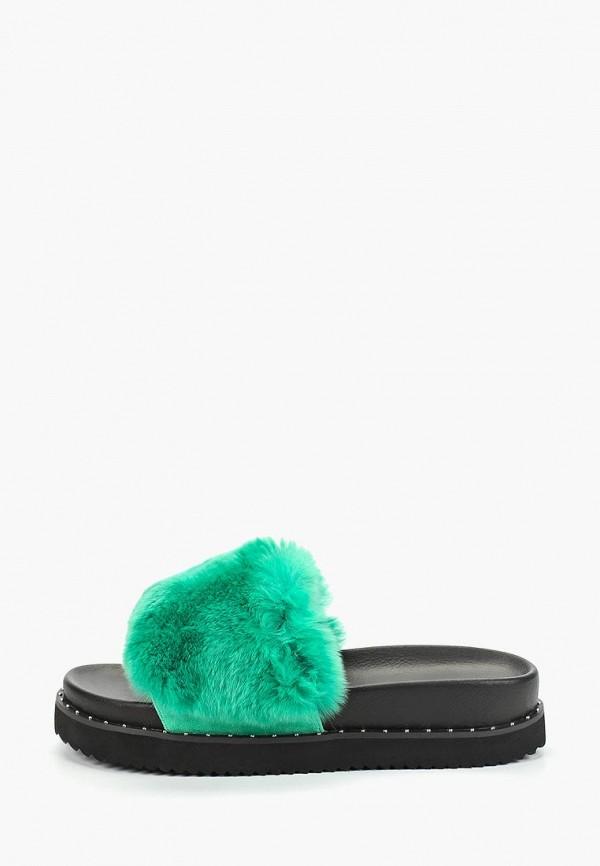 женское сабо grand style, зеленое