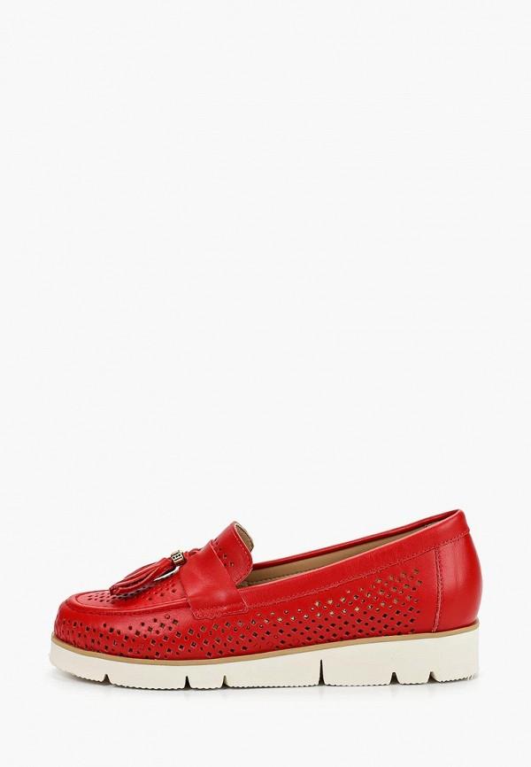 женские лоферы grand style, красные