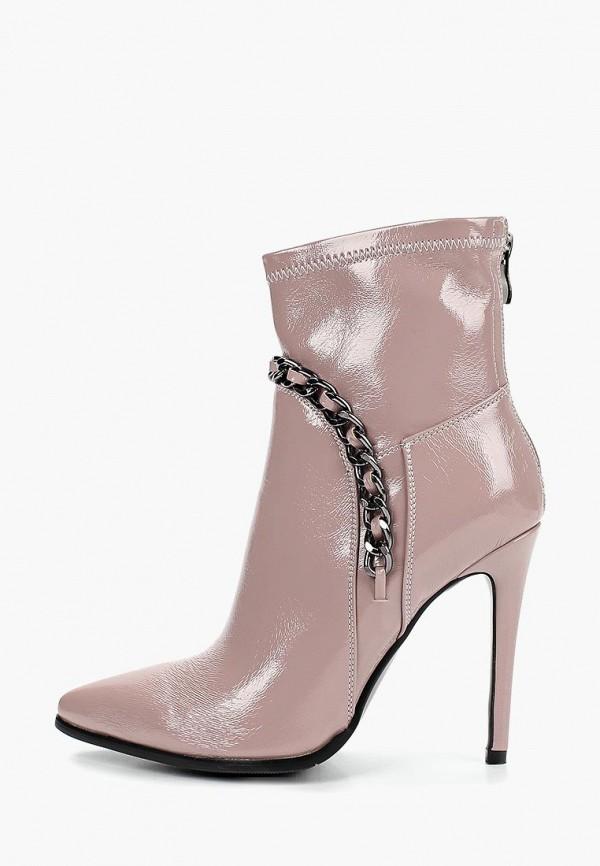 женские ботильоны grand style, розовые