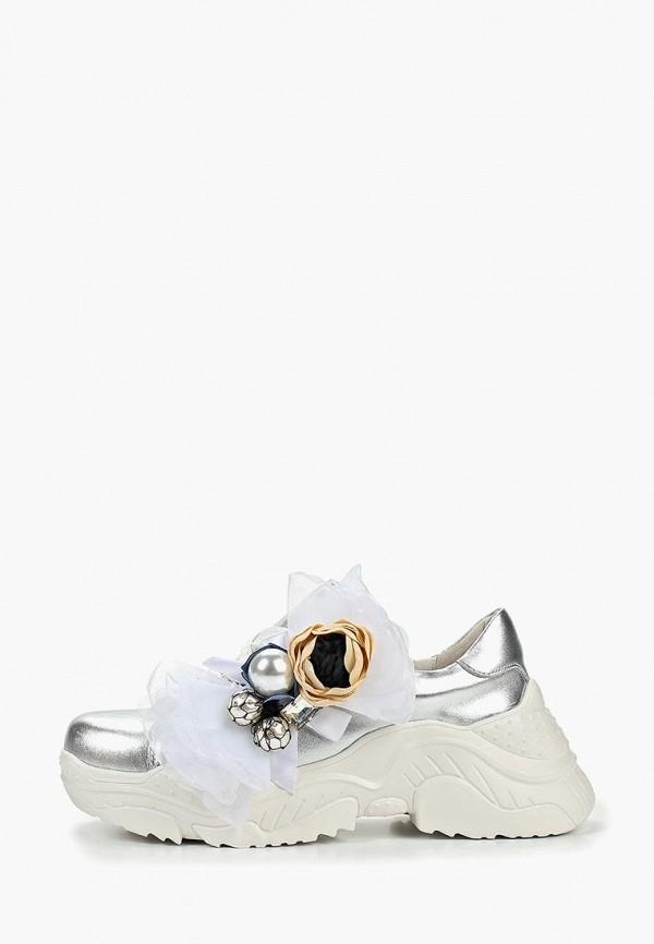 женские кроссовки grand style, серебряные