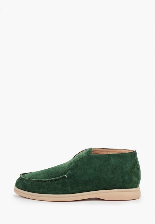 женские ботинки grand style, зеленые