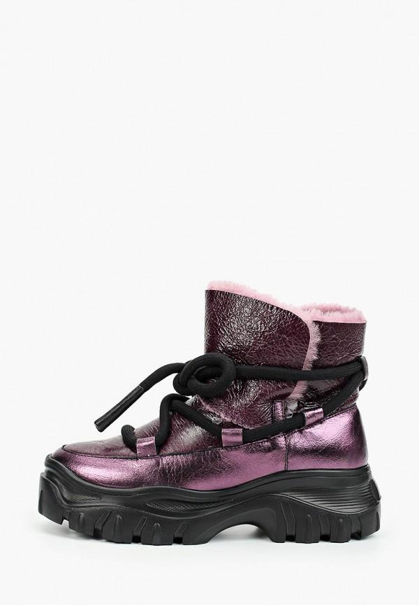 женские ботинки grand style, фиолетовые